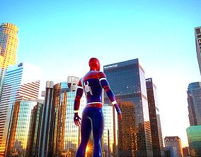 3D asset Spiderman