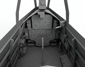 3D asset Cockpit Nakajima Ki 43 Oscar ki