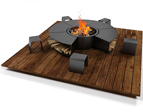 Outdoor fireplace 2012 3D model