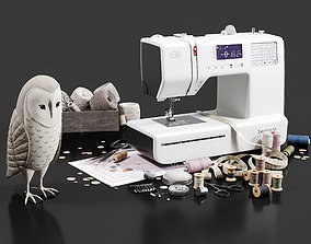 3D model Sewing set