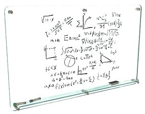 Glass writing board for office 3D model