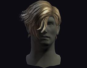 3D model hair man 6