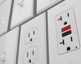 Light switches and outlets pack 1 3D model