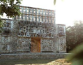 Mayan Building Hochob Low Poly PBR 3D asset
