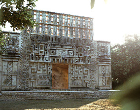 3D model Mayan Building Hochob Low Poly PBR