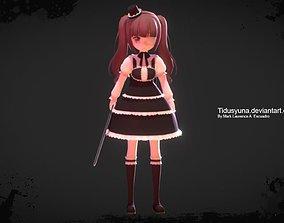 3D model rigged Yurine Hanazona
