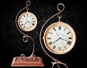 Gold Clock 3D model