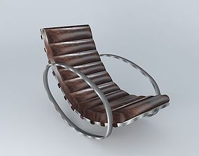 Rocking Chair Freud houses the world brown 3D