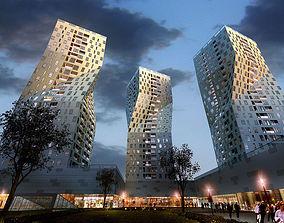 Parking lots Building 3D