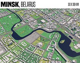 City of Minsk 3D model atlas