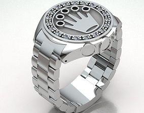3D printable model MEN WATCH RING REF-165