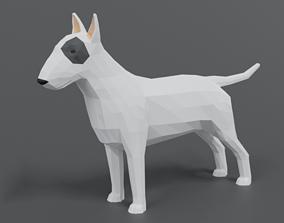 3D model Low Poly Cartoon Bull Terrier