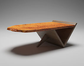 3D Sculpted Wooden Coffee Table
