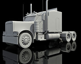 3D model Detailed not textured American Truck