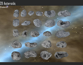 3D model 2D Asteroids