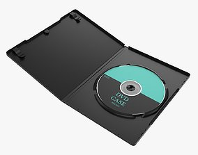 3D DVD case with disc open 01 mockup