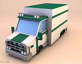 3D asset Low Poly Truck