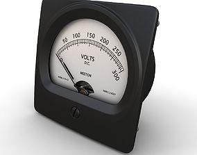 3D model Vintage DC Voltmeter 02