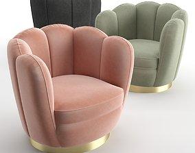 3D Eichholtz Swivel Chair Mirage