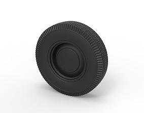 Diecast Wheel from retro car 3D print model