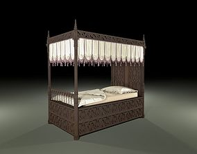 furniture Gothic bed 3D