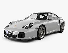 3D model Porsche 911 Turbo Coupe 996 2000