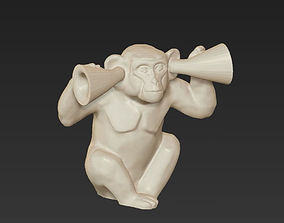 horoscope symbol deaf monkey chinese 2016 3D print model 1