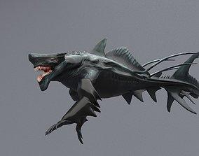 Sea monster 3D model animated