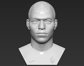 Kylian Mbappe bust 3D printing ready stl obj