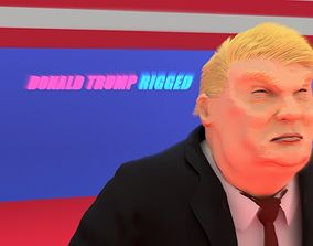 Donald Trump Rigged Animated Character 2018 3D model