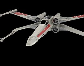 X-Wing Fighter 3D printer model with a mini R2D2