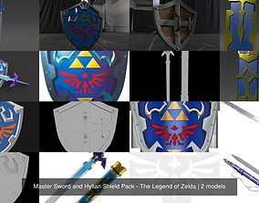 Master Sword and Hylian Shield Pack - The 3D model 2
