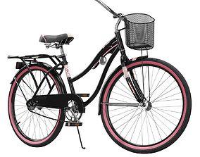 Womens Cruiser Bike with Basket 3D model