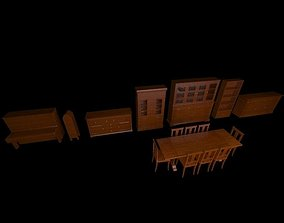 3D model Poor Art Furniture Set