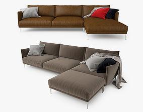 3D model Moroso Gentry Corner Sofa
