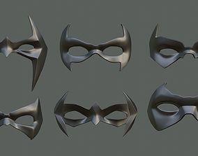 3D printable model 6 Batman sidekicks eye masks