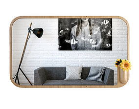 3D Muse Mirror by Artisan
