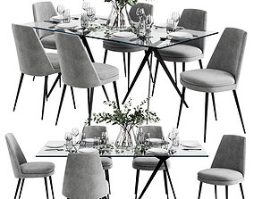 3D West Elm Dinning Set