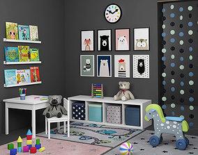 Decorative set for children room 3D