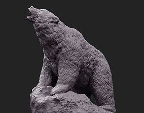 Bear stone 1 3D print model