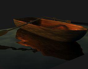 3D asset VR / AR ready Boat 1