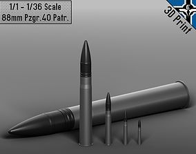 3D printable model Small Scale - 88mm Pzgr 40 Patr --- KwK