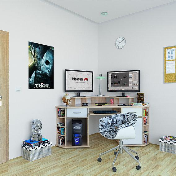 Study Room (Blender + VRay)