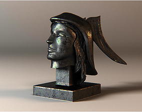 3D model buste hermes statue
