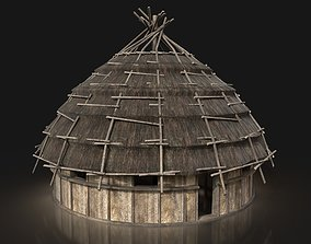 3D asset Next Gen AAA ROUND THATCHED FANTASY MEDIEVAL 2