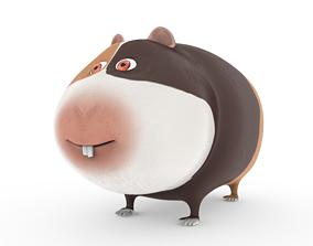 3D asset Hamster cartoon character