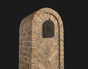Brick Mailbox 3D asset game-ready