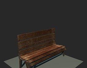 3D model VR / AR ready italian Bench