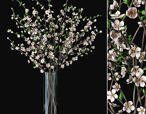 Plum blossom 02 3D model decor