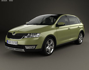 Skoda Rapid Spaceback Scoutline 2015 3D model